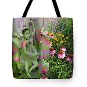 Dancing Girl In Flowers Tote Bag