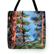 Dancing Light And Mossy Field Tote Bag