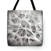Dandelion In Black And White Tote Bag