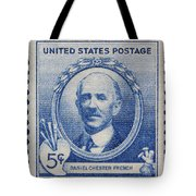 Daniel Chester French Postage Stamp Tote Bag