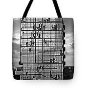 Danish Mural Monochrome Tote Bag