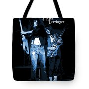 D J  And R D  Playing The Blues 1977 Tote Bag