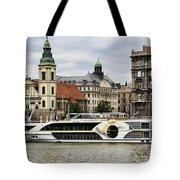 Danube Riverboat In Budapest Tote Bag
