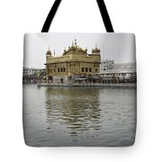Darbar Sahib And Sarovar Inside The Golden Temple Tote Bag