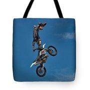 Daredevil Motorcyclist Tote Bag