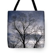 Dark And Stromy Night Trees Tote Bag