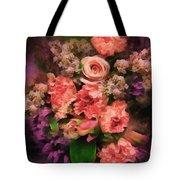 Dark Bouquet Tote Bag