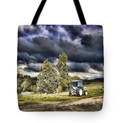 Dark Clouds Over The Farm Tote Bag