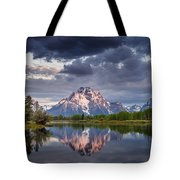 Darkening Skies Over Oxbow Bend Tote Bag