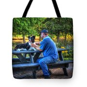 Dave Brushes Moon Tote Bag