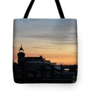 Dawn At Saybrook Dock Tote Bag