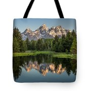 Dawn At Schwabacher Landing Tote Bag