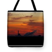 Dawn At The Power Plant Tote Bag
