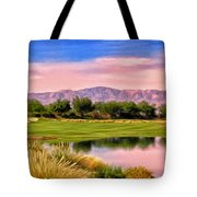 Dawn On The Golf Course Tote Bag