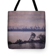 Dawn On The River Neva In Russia Tote Bag