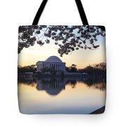 Dawn Over Jefferson Memorial Tote Bag