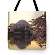 Dawn Over The Jefferson Memorial Tote Bag