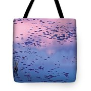 Dawn Sky Reflected In Pool Tote Bag
