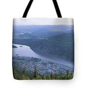 Dawson City And The Yukon River Tote Bag