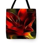 Day Lily Fractal Tote Bag