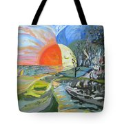 Day Meets Night Tote Bag