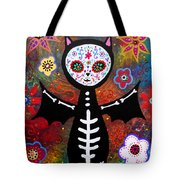 Day Of The Dead Bat Tote Bag