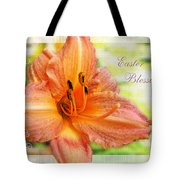 Daylily Greeting Card Easter Tote Bag
