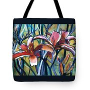 Daylily Stix Tote Bag by Kathy Braud