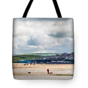 Daymer Bay Beach Landscape In Cornwall Uk Tote Bag