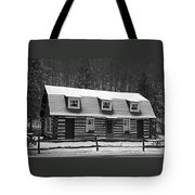 Days Of Yore Log Cabin Tote Bag