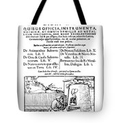 De Re Metallica, Title Page, 16th Tote Bag by Science Source