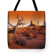 Dead Tree In Desert Monument Valley Tote Bag