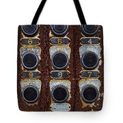 Death Row Cell Buttons Tote Bag