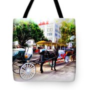 Decatur Street At Jackson Square Tote Bag by Bill Cannon