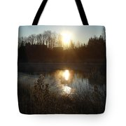 December Sunrise Off Smooth Water Tote Bag