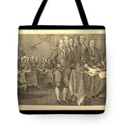 Declaration Of Independence In Sepia Tote Bag