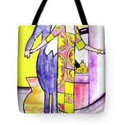 Deco Couple With Vase Tote Bag