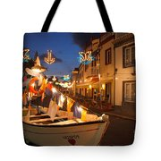 Decorated Fishing Boats Tote Bag