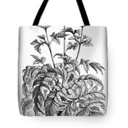 Decorative Flower Tote Bag