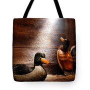 Decoys In Old Hunting Cabin Tote Bag