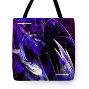 Deep Purple Abstract Tote Bag