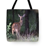 Deer - Doe - Nearing The Edge Tote Bag