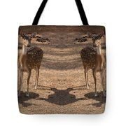 Deer Symmetry  Tote Bag