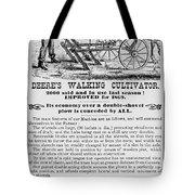 Deere Plow, 1869 Tote Bag