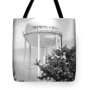 Deerfield Beach Tower In Black And White Tote Bag