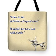 Definition Of Wine Tote Bag by Elaine Plesser
