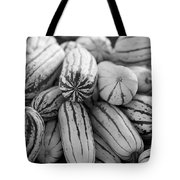 Delicata Winter Squash In Black Tote Bag