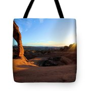 Delicate Arch Bowl Starburst Tote Bag