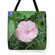 Delicate Round Pink And Small Blue Tote Bag