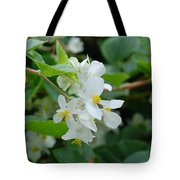 Delicate White Flower Tote Bag